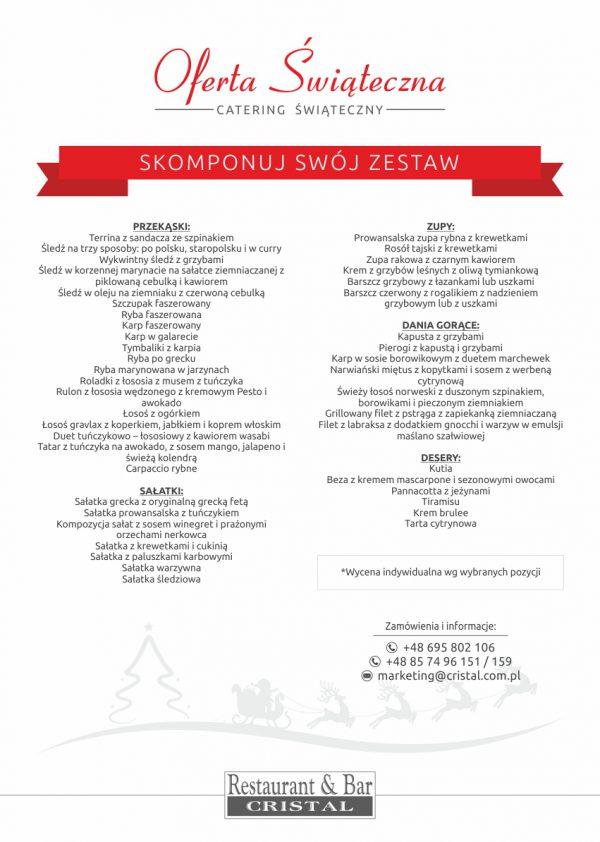 zestawy świąteczne w hotelu Cristal w Białymstoku